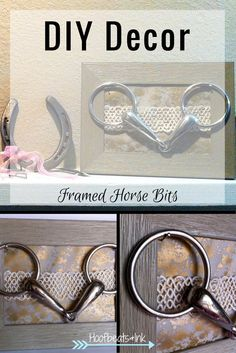 DIY Decor - Framed Horse Bits via Hoofbeats and Ink