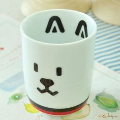 C'designer. Cartoon rabbit threaded straight cups milk cup creative ceramic cup-ZZKKO