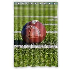 Waterproof Decorative American Football Shower Curtain 48x72 3