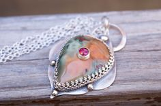 Four Things To Consider When Shopping For Inspirational Bracelets Jewelry Shop, Gemstone Jewelry, Jewelry Gifts, Jewelry Ideas, Jewellery, Fire Opal Necklace, Stone Necklace, Sterling Silver Necklaces, Silver Jewelry