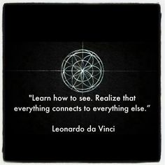 Image result for leonardo da vinci everything connects