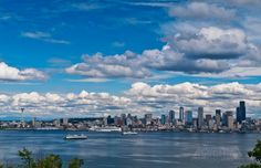 Hamilton Viewpoint Park view of Seattle.