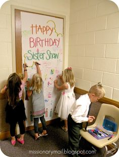 """Missionary Mail: Primary - """"Happy Birthday"""" Poster"""