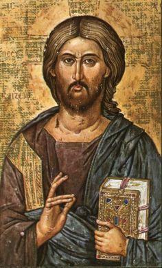 Icono ruso de Jesús (en actitud de bendecir)