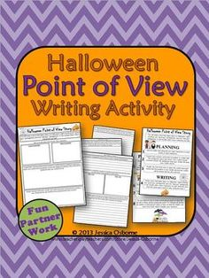 Halloween Point of View Writing Activity: This fun partner writing activity addresses the ELA concepts of point of view, character motivation, plot, conflict, protagonist/antagonist, and creative writing.