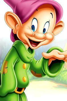 Dopey from Snow White and the seven dwarfs Disney Cartoon Characters, Disney Cartoons, Disney Pixar, Images Disney, Disney Pictures, Disney Love, Disney Magic, Mickey Mouse And Friends, Minnie Mouse