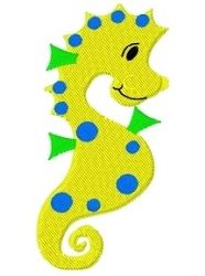 Polka Dot Seahorse - 4x4 | Beach/Ocean | Machine Embroidery Designs | SWAKembroidery.com Tyme 2 Stitch