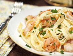 Shrimp Fettuccine Alfredo Recipe | MyRecipes
