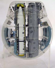 SUB ~ Trident Submarine cutaway model at missile tubes ~ BFD