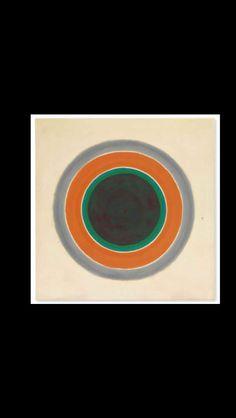 """Kenneth Noland - """" A Warm Sound in a Gray Field """", 1961 - Acrylic on canvas - 210,2 x 207,4  cm"""