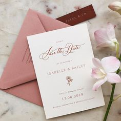 Floral Save the Date with warm color palette #weddingpaper #savethedate