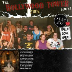 The Hollywood Tower Hotel - Scrapjazz.com Disney Scrapbook, Scrapbook Pages, Scrapbooking, Hollywood Tower Hotel, Tower Of Terror, Disney Ideas, Disneyland Paris, The Incredibles, Craft