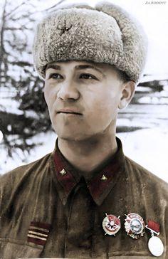 Sniper Nikolay Galushkin cental front 1943