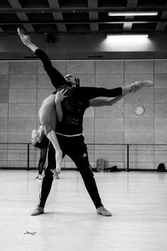 "Olga Smirnova and Semyon Chudin rehearsing ""La Belle"" by Jean-Christophe Mailliot with Les Ballets de Monte Carlo 