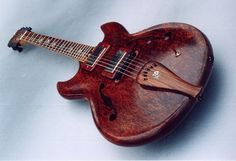 Ken Bebensee Redwood Burl full-hollow body electric / acoustic arch-top