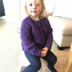 Lil Rascal Round Neck Sweater in West Yorkshire Spinners Bo Peep Luxury Baby - Downloadable PDF Toddler Knitting Patterns Free, Christmas Knitting Patterns, Knit Patterns, Girls Sweaters, Baby Sweaters, Blue Sky Fibers, Universal Yarn, Baby Scarf, Bo Peep
