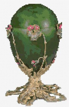 Cross Stitch | Pansy Faberge Egg xstitch Chart | Design