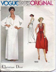 70s Vogue Christian Dior Evening Dress by AnnesVintagePatterns, $24.00