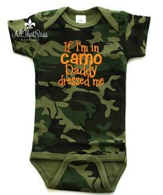 Camoflauge Baby Bodysuit Camo Girls or by AllThatSassBoutique, $18.00