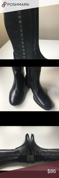 NWT Michael Kors boots New never worn black leather knee boots sz 8 1/2 KORS Michael Kors Shoes Over the Knee Boots