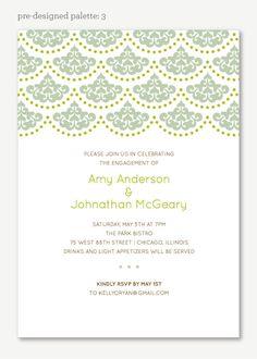 Iron Lace Bridal Shower invitation - Unique Bridal Shower Invitation