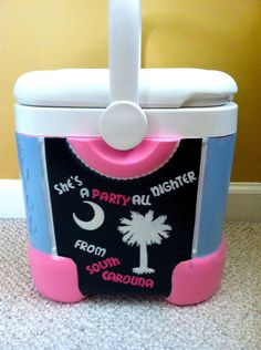 Custom Hand Painted Coolers. Anything you request!    #palmetto #cooler #gift ideas!