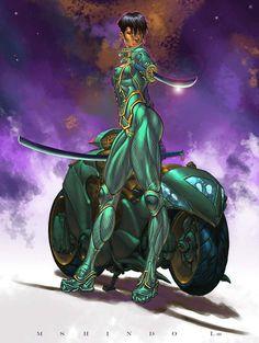 Niemah by on deviantART - Dion Floyds Cyber hero form The Urban Sprawl… Dope Cartoon Art, Black Cartoon, Black Love Art, Black Girl Art, Comic Books Art, Comic Art, Black Anime Characters, Superhero Characters, Black Comics