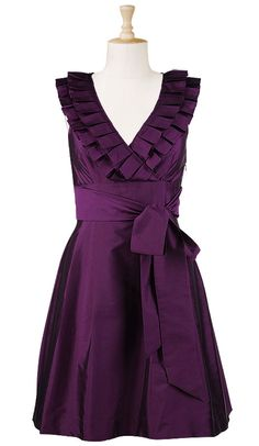 love purple and aside from my flabby arms, this dress hides all the rest of my body dislikes...  gorgeous!