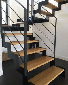 Blacksmithing stairs for interiors Interior Stairs, Cafe Interior, Interior Design, Escalier Design, Stair Handrail, Railings, Modern Stairs, Floating Stairs, House Stairs
