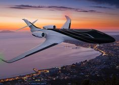 Windowless private jet with screens offering immersive panoramic views.