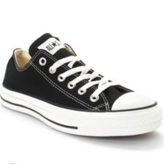 CONVERSE Chuck Taylor Sneakers: PRE-LOVED Classic Black low-cut Converse All-Star sneakers. Size 8. Definitely show some wear, but have a lot of life left in them. Converse Shoes Sneakers