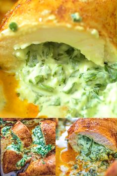 Spinach Stuffed Chicken Breast - This will become your favorite chicken breast recipe. Not only because it's super simple, but bec - Spinach Stuffed Chicken, Baked Chicken, Chicken Recipes, Chicken Cauliflower, Lime Chicken, Teriyaki Chicken, Keto Chicken, Yummy Recipes, Dinner Recipes