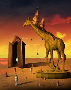 Cena com Girafa by Marcel Caram