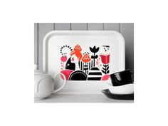 Flora's Fields wooden tray from Darling Clementine