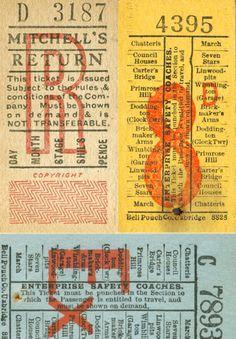 Vintage tickets.