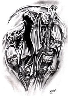167 Best Reaper Images In 2019 Grim Reaper Tattoo Drawings Skull