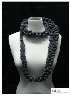 Beautiful felt roll scarf/necklace by Giia...