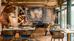 Bibo - A restaurant serving fine French cuisine in an art gallery setting.