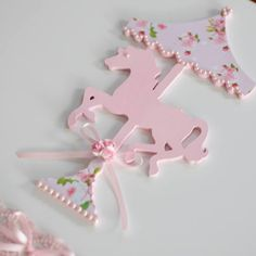 Pink Carousel Themed Christening Party by Le Petit Party Carousel Birthday Parties, Carousel Party, Unicorn Birthday Parties, Unicorn Party, First Birthday Parties, Birthday Party Themes, First Birthdays, Christening Party, Horse Party