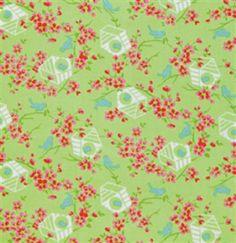 free spirit sugar hill birdy in green fabric - Google Search