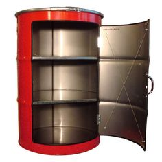 Upcycled Oil Drum Cabinets : oil drum industrial furniture