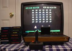 Atari...pac man, missile command, pong, space invaders, pinball,asteroids, air sea battle...ohhhh the memories! :)