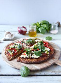 Cauliflower crusted pizza