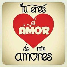 Tu eres el amor de mis amores...