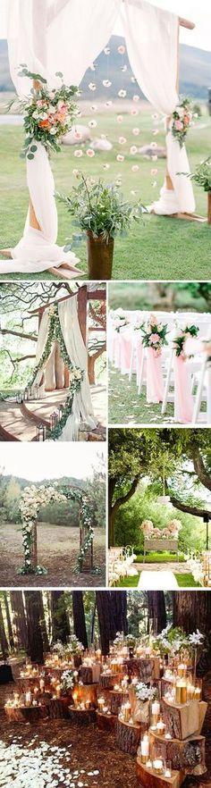 Decoracion de altares para una boda al aire libre