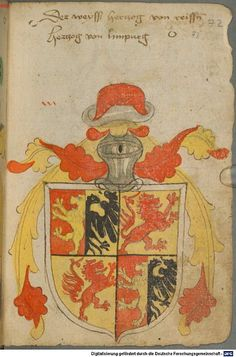 Ortenburger Wappenbuch Bayern, 1466 - 1473 Cod.icon. 308 u  Folio 72r