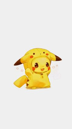 Tap image for more funny cute Pikachu wallpaper! Pikachu - <a Cute Pokemon Wallpaper, Cute Disney Wallpaper, Kawaii Wallpaper, Cute Cartoon Wallpapers, Cute Animal Drawings, Kawaii Drawings, Disney Drawings, Cute Drawings, Pikachu Pikachu