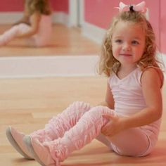 Elegance for even the littlest ballerina! Slipper Pink LegRuffles $14.50 at PattyLou's Boutique - Adorable, affordable Children's Clothing