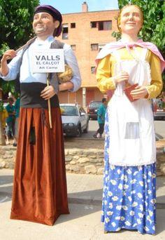 Gegants del Calçot de Valls, Tarragona. Antonet i Angelina.
