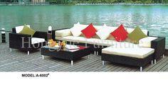 Outdoor corner rattan sofa furniture set with cushion sale